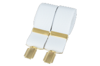 Dalaco BR-010 Plain White 33mm Gold Clip Braces